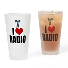 iheartradio Drinking Glass