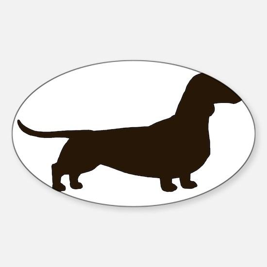 dachshundchocolate Sticker (Oval)