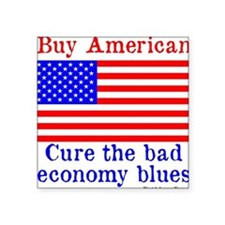 "BuyAmerican Square Sticker 3"" x 3"""