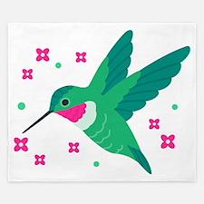 Delightful Little Hummingbird King Duvet