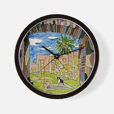 tiles-italy-pompeii-5.25 Wall Clock