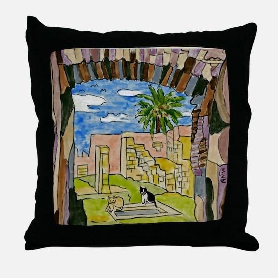 tiles-italy-pompeii-5.25 Throw Pillow