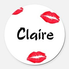 claire Round Car Magnet