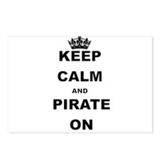 KEEP CALM AND PIRATE ON Postcards (Package of 8)
