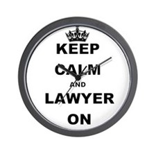 KEEP CALM AND LAWYER ON Wall Clock