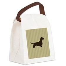 doxiestripepillow Canvas Lunch Bag