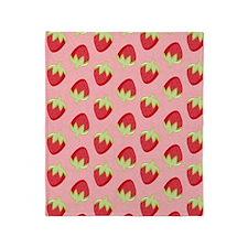 Strawberry Flip Flops Throw Blanket
