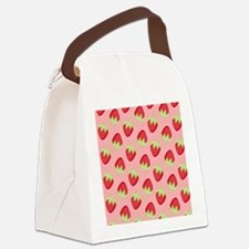 Strawberry Flip Flops Canvas Lunch Bag