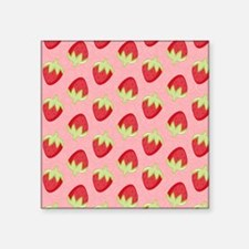 "Strawberry Flip Flops Square Sticker 3"" x 3"""