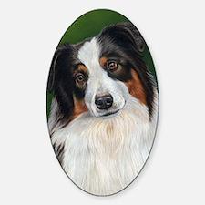 Australian Shepherd Tri Sticker (Oval)