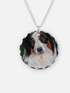 Australian Shepherd Tri Necklace