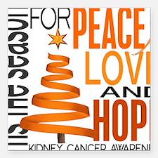 """D Kidney Cancer Square Car Magnet 3"""" x 3"""""""