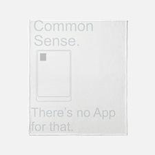 CommonSense_AppBWNB Throw Blanket