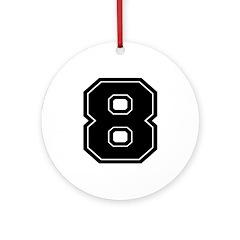 8 Ornament (Round)