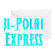 lt.blue, Bi-Polar 2 Greeting Card