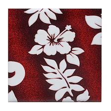 maroonwhitemodipadsleeve Tile Coaster