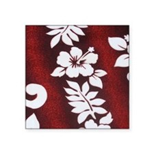 "maroonwhitemodipadsleeve Square Sticker 3"" x 3"""
