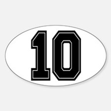 10 Oval Decal