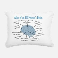 Atlas of an ER nurses br Rectangular Canvas Pillow