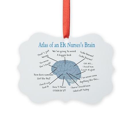 Atlas of an ER nurses brain Picture Ornament