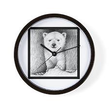 Polar Cub (Black T-shirt) Snowwhite Wall Clock