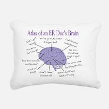 Atlas of an ER Docs Brai Rectangular Canvas Pillow