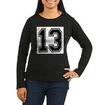 13 Women's Long Sleeve Dark T-Shirt