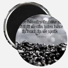 Listen Quote on Tile Coaster, Framed Tile,  Magnet