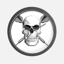 dart_skull Wall Clock