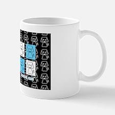 aqua and black designer doggie bag by v Mug