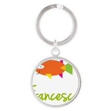Francesca-the-big-fish Round Keychain
