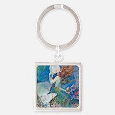 Pillow-CLIVE-Mermaid Square Keychain