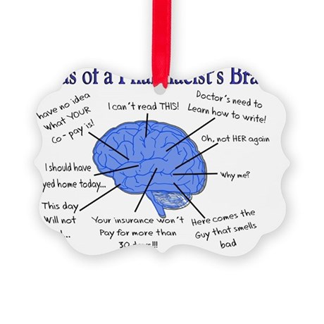 Atlas of a Pharmacists Brain Picture Ornament