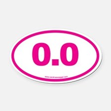 0.0 NO RUNNING Pink Oval Car Magnet