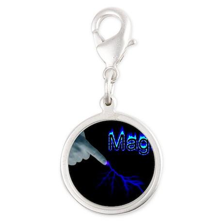 magic Silver Round Charm