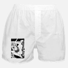 iTouch2_Case_2.41x4.42_woman_black Boxer Shorts