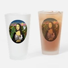 R-Mona-Two GuineaPigs Drinking Glass