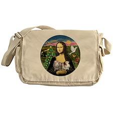 R-Mona-Two GuineaPigs Messenger Bag