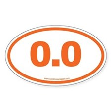 0.0 NO RUNNING Orange Decal