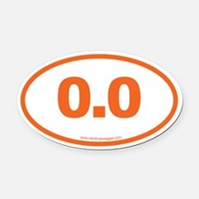 0.0 NO RUNNING Orange Oval Car Magnet
