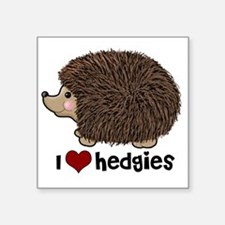 "hearthedgies Square Sticker 3"" x 3"""
