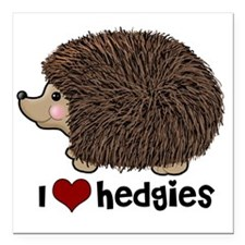 "hearthedgies Square Car Magnet 3"" x 3"""