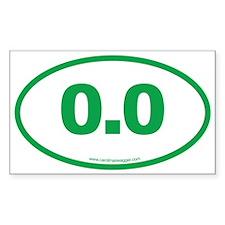 0.0 NO RUNNING Green Decal