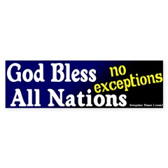 God Bless All Nations Bumper Bumper Sticker