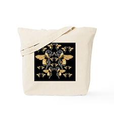 bees square Tote Bag
