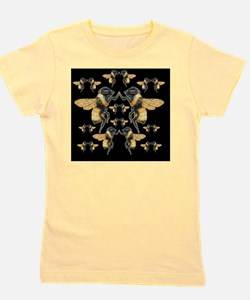 bees square Girl's Tee