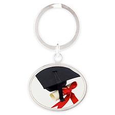 Graduation Oval Keychain