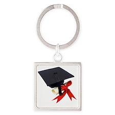 Graduation Square Keychain