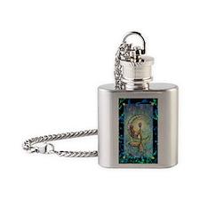 mermaid moon journal Flask Necklace