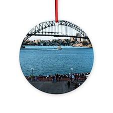 ipad2-Sydney-Harbourbridge Round Ornament